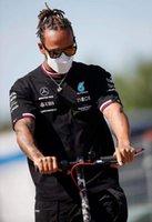 Nouveau 2021 Mercedes AMG F1 Team Mens Lewis Hamilton T-shirt Tee Black Mercedes Amg Petronas Formula One F1 Polo Pit Shirt Grand Prix