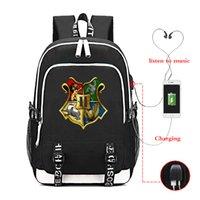 Harris Poter Hogwarts School рюкзак новых женщин мужчины многофункциональные USB зарядки ноутбук рюкзак школа сумка для мальчика 210322