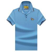 Polo Branca Roupas Masculino Alta Qualidade Topstees Novos Homens Business Polo Camisas 3D Bordado Homens PoloShirt A9010 210329