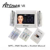 Permanent Makeup machine digital Artmex V8 touch Tattoo Machine set Eye Brow Lip Rotary Pen MTS System tattoo pen