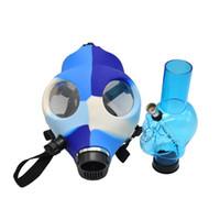 실리콘 매시 크리 에이 티브 아크릴 실리콘 흡연 파이프 가스 마스크 아크릴 봉지 파이프 플라스틱 오일 버너 파이프 물 봉포 핸드 파이프 295 v2