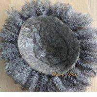 Dünne Haut PU-Basis Komfortables Afro-Haar-Mens-Perücken 6mm 8 * 10 indische Haar-freier Stil natürlicher Haaransatz Unsichtbarer kundenspezifischer Toupee für schwarze Männer