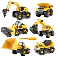 Take Apart Car Toy DIY Blocks Construction Vehicle 6 Trucks Assembly Engineering Cement Truck Model Building Boys Toys