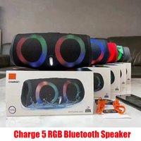 Carica 5 RGB Light Bluetooth Speaker Charge 5 Portatile Mini wireless Outdoor Impermeabile Subwoofer Altoparlanti Supporto TF USB Card Box