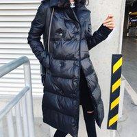Women's Trench Coats Plus Size 3XL Jackets 2021 Women Winter Coat Long Slim Thicken Warm Jacket Down Cotton Padded Outwear MY55