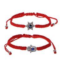 Charm Bracelets Lucky Kabbalah Red Strings Thread Fatima Hamsa Blue Turkish Handmade Women Friendship Jewelry