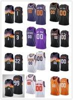 Hombre para mujer Juvenil Chris 3 Paul Devin 1 Booker Jae 99 Crowder Deandre 22 Ayton Custom Black Blanco Blanco Púrpura Basketball Jerseys