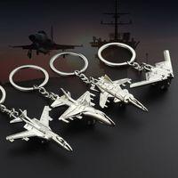 10 Pieces / lote Promoción de la aerolínea Nuevo Llavero Metal Aircrafe Modelo de luchador Modelo de aviación Regalos Llavero Modelo Llavero Air Plane Aircrafe Keyri