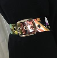 زائد الحجم حزام شفاف السيدات الخصر أحزمة واضحة للنساء شبه منحرف الذهب مشبك واسعة مشد cummerbunds كبير اللباس حزام 2020 537 T2