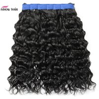 New 10A Brazilian Water Wave Human Hair Bundles 3 4 Bundles Deals Kinky Curly Indian Remy Human Hair Weft Extensions Deep Wave Body Wave