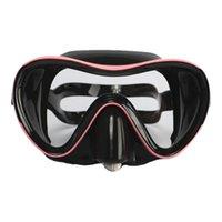 Máscaras de mergulho 2021 Óculos de natação, Silicone Nadada Óculos de proteção de proteção temperada Anti-nevoeiro Ajustável cinta confortável com caso