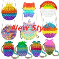 Wallet Bags Push Its Bubble Fidget Toys Kawaii Silicone Pencil Case Simpl Dimmer Antistress Toy Soft Press Pops Figet Toys Bag