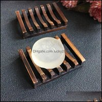 Bath & Gardenvintage Style Tray Handmade Wood Dish Box Wooden Soap Dishes As Holder Home Bathroom Aessories Drop Delivery 2021 Cwbaf