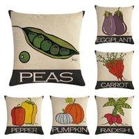 Cushion Decorative Pillow Vegetable + English HomerDecor Cushion Cover Throw Pillowcase Covers 45 * 45cm Sofa Seat Decorative
