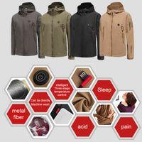 Lüks Marka erkek Aşağı Ceket Açık Kış Elektrikli Isıtma Ceket USB Şarj Isıtmalı Ceketler Akıllı Isı Kayak Yürüyüş Giyim Spor