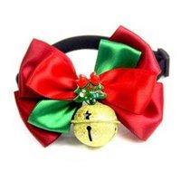 ファッションペット用品蝶ネクタイかわいいクリスマス赤と緑の犬猫ネクタイアクセサリー美容資料