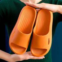 Slippers Ladies Fashion Summer 2021 Beach Soft Bottom Eva Sandals Casual Men Indoor Bathroom Non-slip Shoes