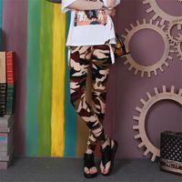 Women's Leggings INDJXND Camouflage Printing Elasticity Fitness Pant Casual Legging For Women Gym Pants XXXL