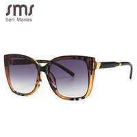 Sen maries square sonnenbrille frauen katze augen streifen ultralight vintage brille frames männer frauen optische mode computer brille y0831