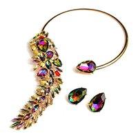 Arrivée strass colorée Colliers Colliers Colliers Fashion Trend Crystals Fine Bijoux Accessoires pour Femmes