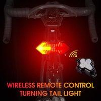 Bike Lights WEST BIKING Remote Control Taillight Waterproof Turn Signal Night Riding Warning Safety Light USB Charging Equipment