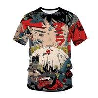 Men's T-Shirts Anime Akira 3D Printed T-Shirt Men Women Fashion Harajuku Streetwear Crew Neck Oversized Hip Hop Tees Tops Unisex T Shirts