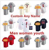 2021 Atlanta maglie da baseball uomini donne bambini gioventù 13 ronald acuna jr freddie freeman 7 dansby swanson 24 deion sanders chippaer jones jersey jersey