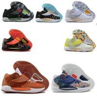 Kevin Durant KD 14 14 S Erkek Basketbol Ayakkabı Çok Renkli Erkekler KD14 XVI Eğitmenler Zoom Elite Spor Sneakers ABD 7-12 A7