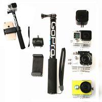 Selfie-Monopoden Self-Stick-Handheld-ausziehbarer Pole-Monopod-Telefon-Halter Adapter für Go Pro Hero 9 8 7 6 5 4 4K SJCAM-Zubehör