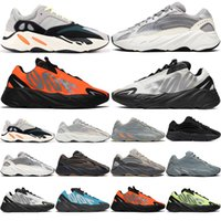 700 V2 Running Shoes High Quality Men Women Trainers Cream S...