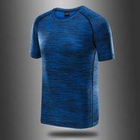 Ледяная шелка быстрой сушильной футболкой мужская с короткими рукавами летняя дышащая йога бегущая фитнес мужчин и женщин круглые шеи открытый влагопоглощающий влага