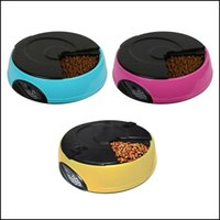 Bowls Feeders Supplies Home & Gardenmatic Feeder 6 Meals   Day For Dog Food Trays Bowl Dispenser Setting Fixed Time Non-Toxic Container Reco