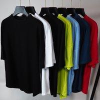 T-shirt de beleza t-shirts anjos grandes back impressão palma em torno do pescoço de manga curta t-shirt homens e mulheres 8 cores