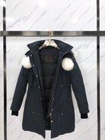 01 donne moda inverno cappotto d'oca abbassata di abbigliamento spesso tuta sportiva