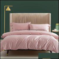 Bedding Supplies Textiles Home & Gardenbedding Sets 3Pcs 60S Long-Staple Cotton Bed Linen Duvet Er Set Bedspread On The Linens Bedspreads Fo