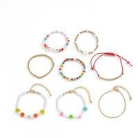Charm Bracelets Ethnic Multilayer Multicolor Resin Beads For Women Handmade Flower Heart Rope Bracelet Sets Bohemian Jewelry