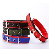 Dog Collars & Leashes Nylon Pet Collar Adjustable Soft Foam Padded Sturdy Durable For Puppy Medium Large Dogs Pets Supplies Teddy Beagle