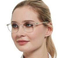 Lesebrille Frauen Runder Rahmen Vintage Optische Brillen Hyperopie TR90 Lupe Presbyopia Transparente Brillen Sonnenbrillen