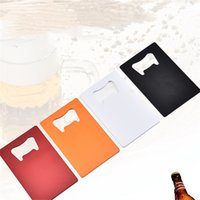 4 styles Stainless Steel Opener Beer Bottle Opener Business Card Bottle Openers creative party favor supplies T500769