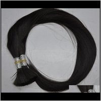 Необработанные перуанские прямые волновые наращивания без уцинков Naturtal Цвет для косы волос 6AJTC WEAVES CGIWG
