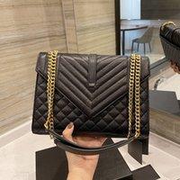 Tasarımcı Çanta Kadınlar Siyah Crossbody Çanta Flap Metal Zincir Çanta Kapak Kapak Omuz Çantaları Çanta Cüzdan Toz Çanta