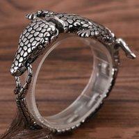Charm Bracelets Fashion Personality Domineering Crocodile Shape Bracelet Men's Punk Rock Motorcycle Jewelry
