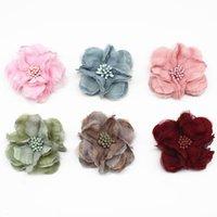 Decorative Flowers & Wreaths 10PCS Mini Chiffon Fabric Flower For Wedding Invitation Artificial Dress Decoration