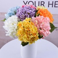 47cm artificial hydrangea Decorative Flowers head 19cm fake silk single real hydrangeas for Wedding Centerpieces HHB7053