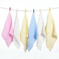 25 * 25см платок чистые хлопковые полотенца новорожденных мусынов квадратный младенческий лицо детские полотенца обертывают малышные нагрудники T2i51739