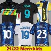 21 22 Inter Futbol Formaları Milan Barella LAUTARO ERİKSEN Sensi Bastoni Futbol Gömlek 2021 2022 Erkekler ve Çocuk Kitleri Dumfries Correa