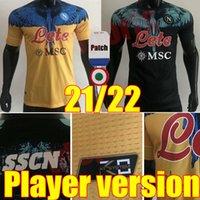 2021 2022 Spielerversion Insignente Napoli Fußball Jersey Neapel Kits 20 21 22 Zielinski Maradona Mertens Callejon RPG Football Hemden