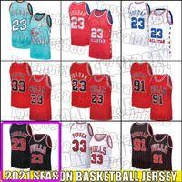 ChicagoBullenJersey 23 Michael Jersey Scottie 33 Pippen Jersey Dennis 91 Rodman Trikots Retro Vintage Throwback ZX651B