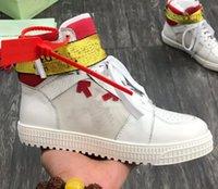 Venta al por mayor Barato 20SS 21SSS Shoes de diseñador para Hombres Mejor Calidad Cuero genuino Off Sport Brand Shoes Shoes Sneaker de diseñador blanco Tamaño 5-12
