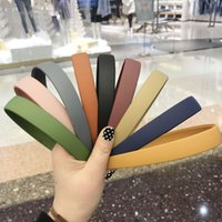 Fashion Plastic Frosted Wide Headband Hair Band Headwear Hair Accessories for Woman Satin Covered Resin Hairbands 1PC